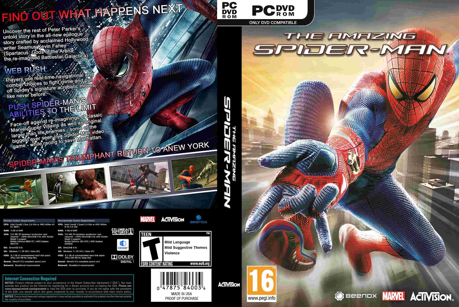 The Amazing Spider Man Game - Hellopcgames